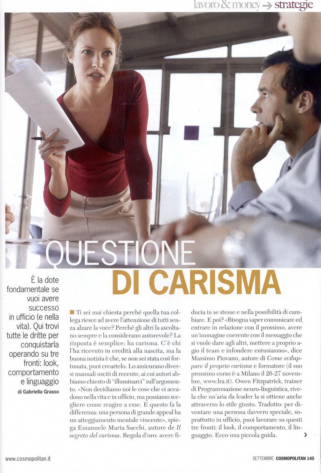 Rassegna stampa Cosmopolitan Massimo Piovano giornalista pubblicista
