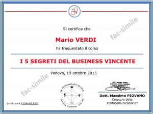diploma-di-frequenza-corso-5-segreti-del-business-vincente-massimo-piovano